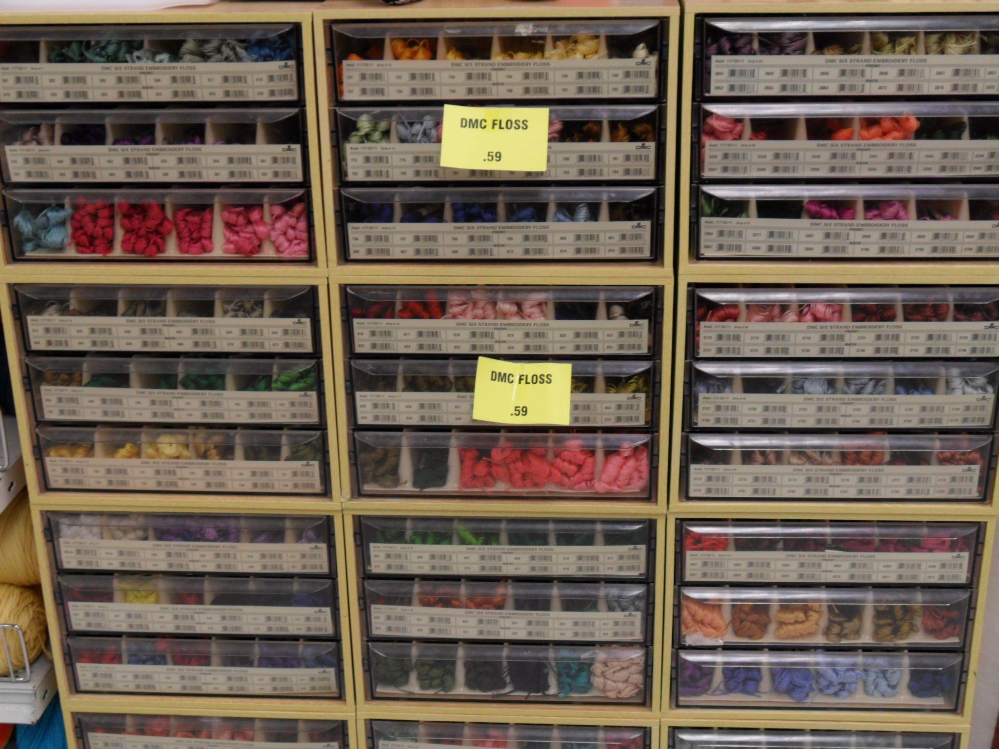 DMC thread/floss organiser drawers | Embroidery | Pinterest ...