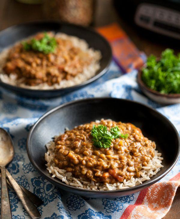 Slow Cooker Masala Lentils Gluten Free Soy Free