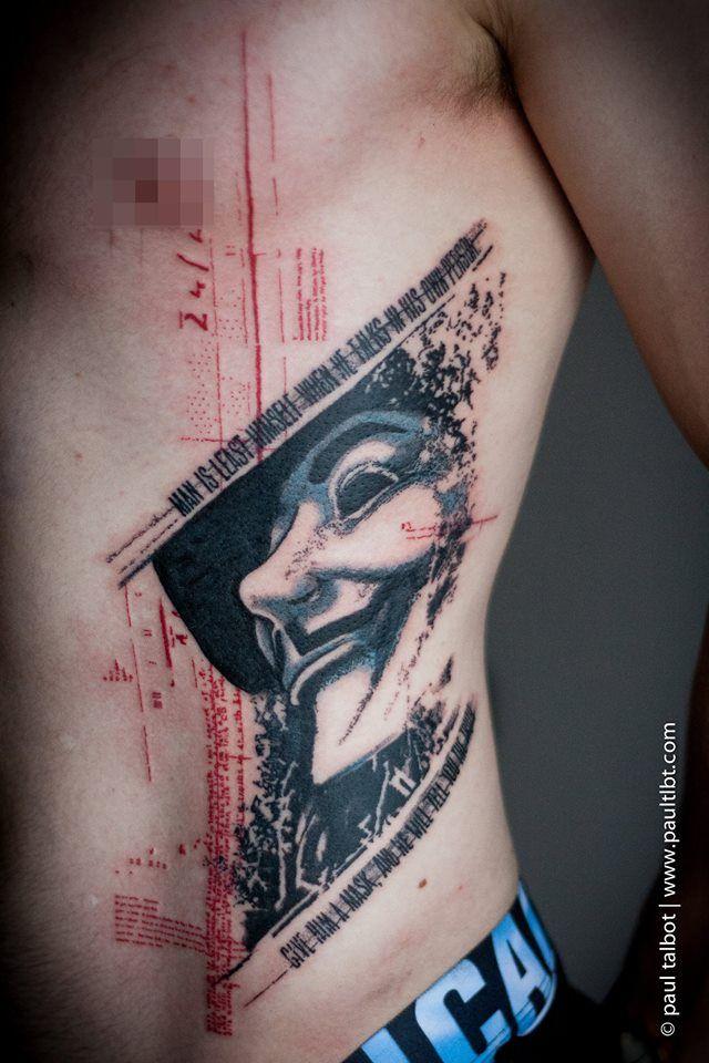 772b87ad4 Paul Talbot | Ink | Tattoo trash, Trash polka tattoo, Vendetta tattoo