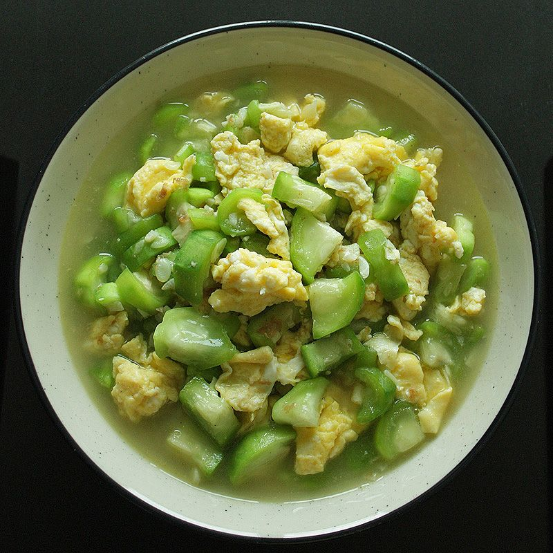 Tumis Oyong Dan Telur Chinese Okra And Egg Stir Fry Recipe Yummy Vegetable Recipes Indian Food Recipes Vegetarian Cuisine Recipes