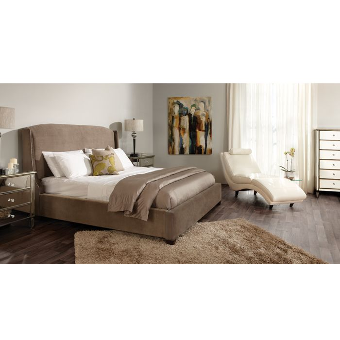 Victoria upholstered queen bed beds bedroom classic for Mobilia bedroom