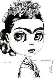 Resultado De Imagen Para Imagenes Frida Kahlo Para Colorear Frida
