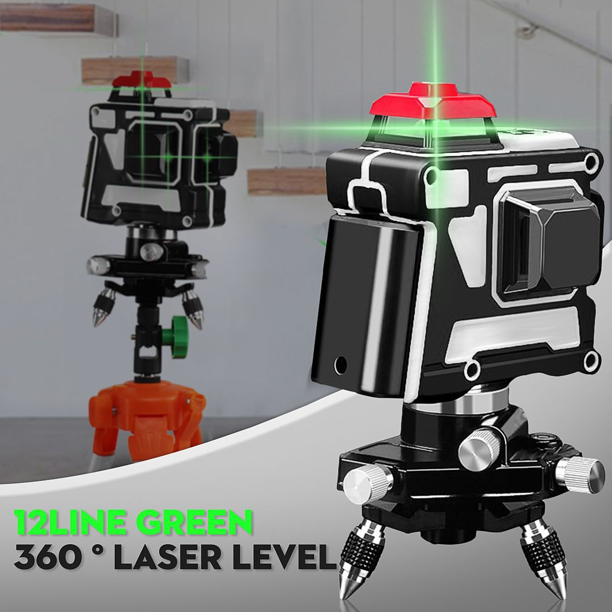 360 12 Line 3d 120x Green Light Laser Level Outdoor Cross Measure Tool W Tripod Measurement Analysis Instruments From Tools On Banggood Com Laser Lights Laser Levels Wellness Design