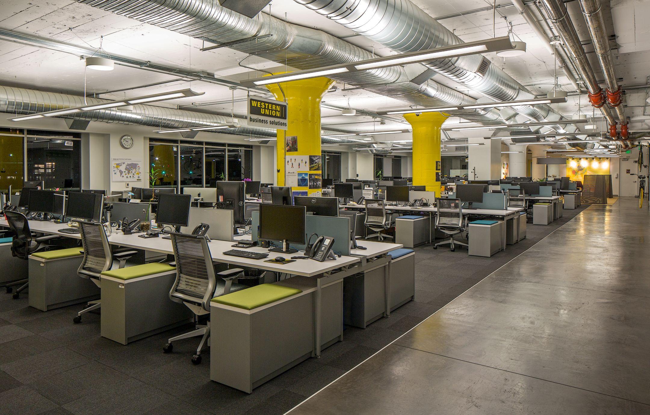 Fennie mehl architects office interiors western union for Western union san francisco ca