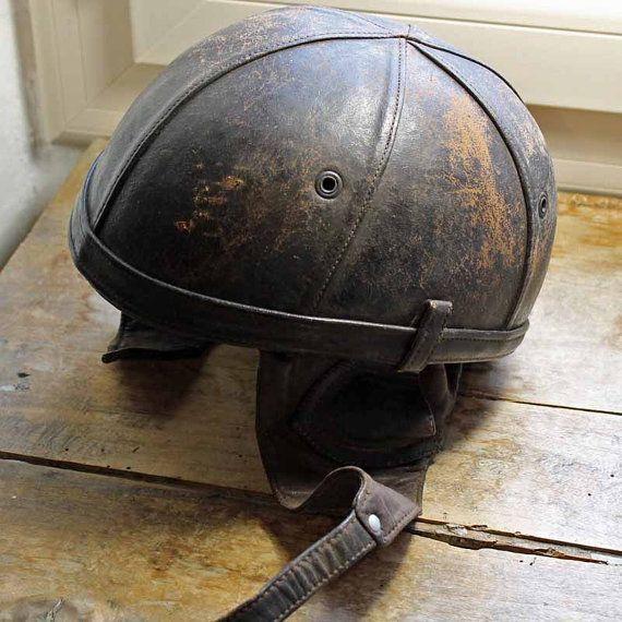 Vintage Bayard leather Motorcycle helmet 1950s Vintage ...