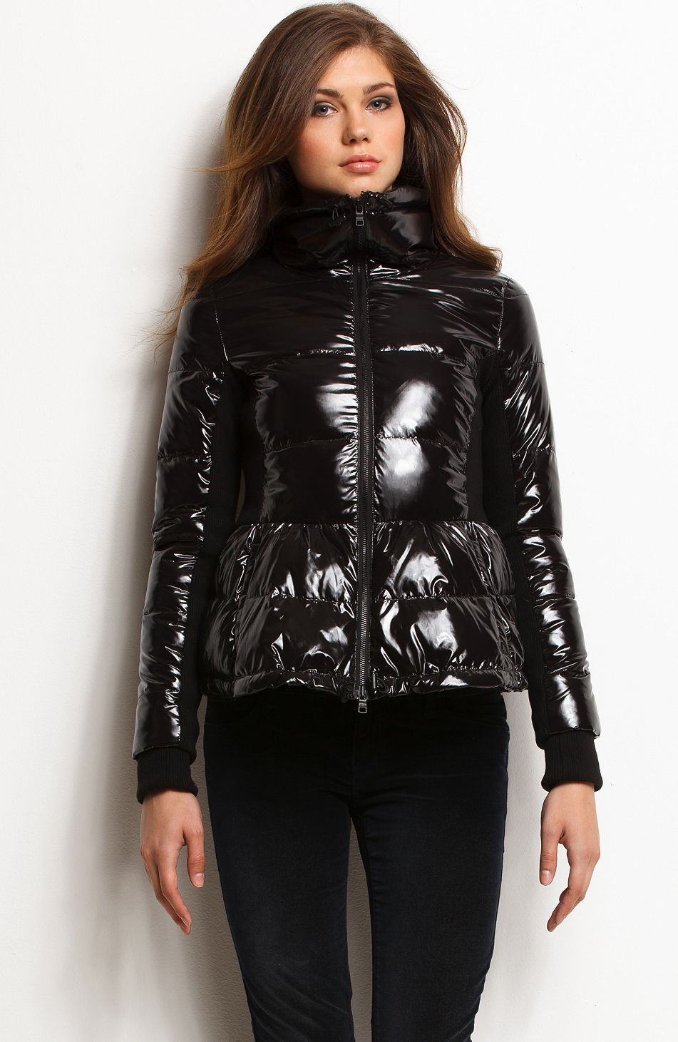 d128d3dfa45a Glossy Puffer Jacket - Jackets - New Arrivals - Womens - Armani Exchange