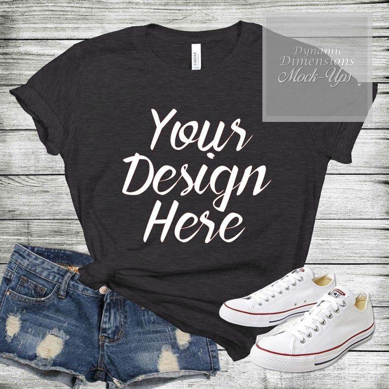 Download Bella Canvas 3001 Unisex T Shirt Mock Up Shirt Template Grey Etsy Shirt Template Shirt Mockup Shirts