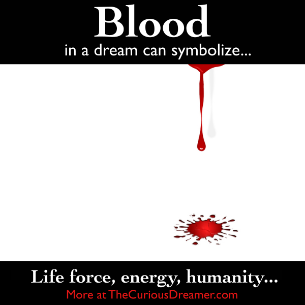 Blood As A Dream Symbol Can Mean More At Thecuriousdreamer