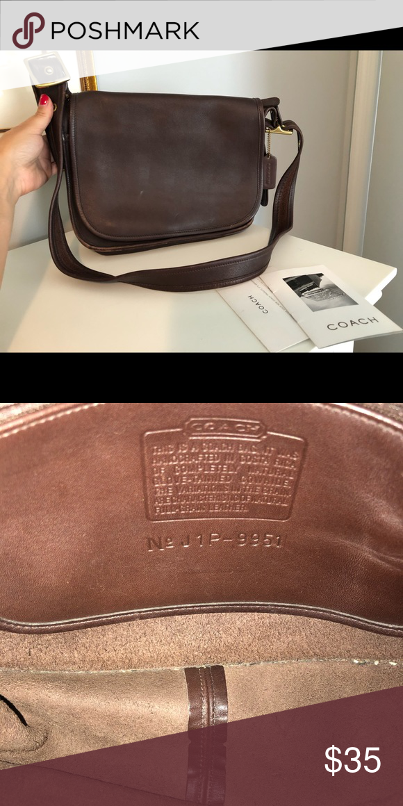Brown leather Coach cross body saddle bag Brown leather Coach cross body  saddle bag Coach Bags Shoulder Bags 828aea05ab