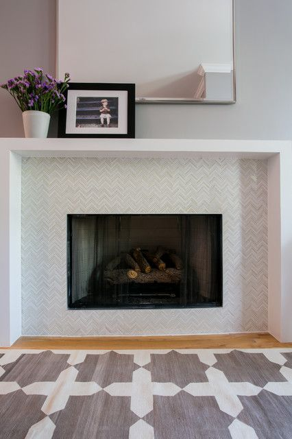 Tiled Fireplaces Design Ideas Pictures Remodel And Decor Fireplace Tile Modern Fireplace Mantles Fireplace