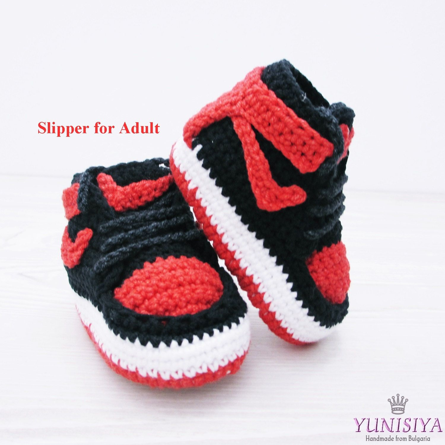 648df8641 Crocheted slippers Nike Air jordan Knitted shoes Slippers Men s Slippers Air  Jordan 1 Women s Slippers adult Sneakers slippers Shoe slippers by Yunisiya  on ...