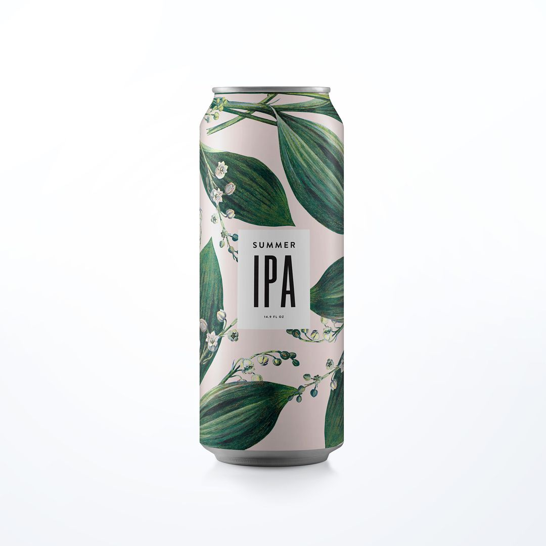 Cant quit reworking my patterns as craft beer cans Tag your favorite brewery who needs some new packaging