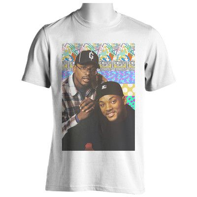 Jazzy Jeff / 90s Pattern Shirt /Size XL K55RsS1