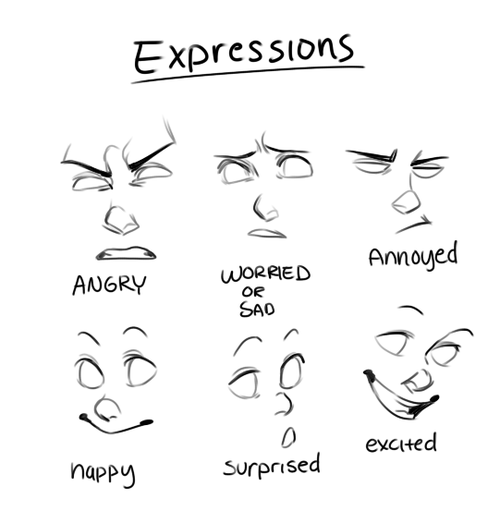 drawing tips - expressions