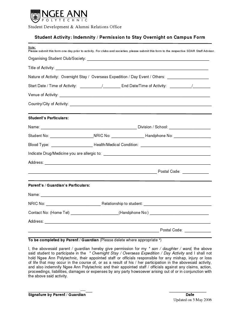 Indemnity Form Template - Invitation Templates - indemnity form ...