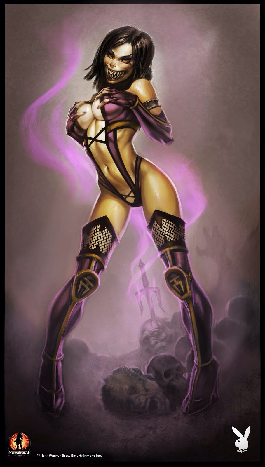 Mileena Playboy Super Heroi Vilas Personagens