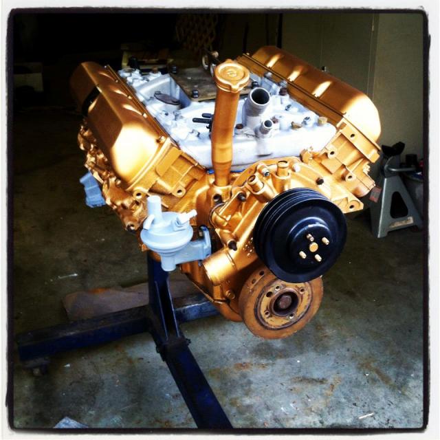 Gold Motor Paint Oldsmobile Cutlass Supreme Oldsmobile 442