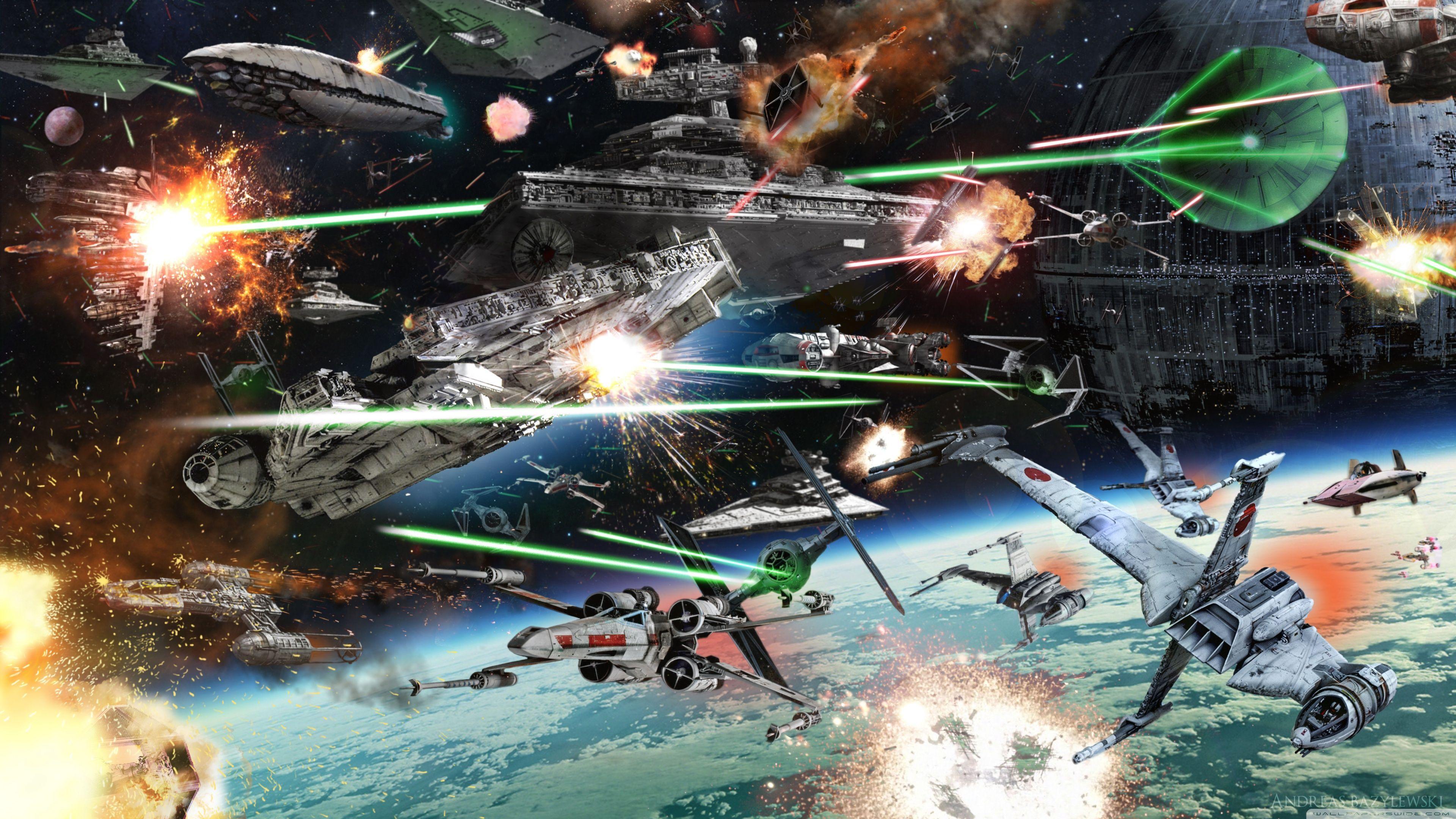 3840x2160 Star Wars Space Battle 4k Hd Desktop Wallpaper For 4k Ultra Hd Star Wars Wallpaper Star Wars Characters Star Wars Images