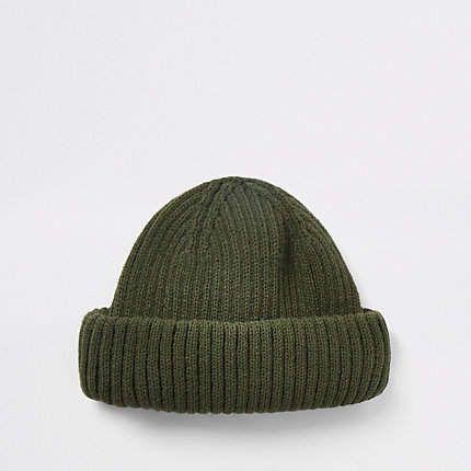 058526c3b1 Khaki green mini fisherman beanie hat - Hats   Caps - Accessories ...