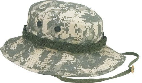 42dfca33ada In ACU Digital Camouflage Pattern. ACU Digital Camouflage Boonie Hat.  Adjustable Chin Strap. 55% Cotton   45% Polyester. 4 Screened Side Vents.