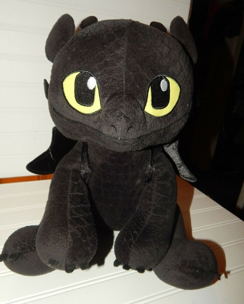 1b2331b4c58 Build-a-Bear How to Train Your Dragon Toothless Night Fury w Wings Plush  15