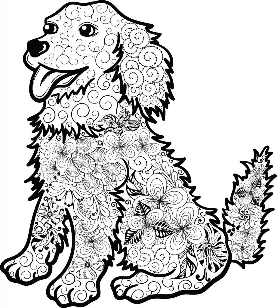 Mandala Hund Welpr Mandala Tiere Mandala Zum Ausdrucken Ausmalbilder Hunde