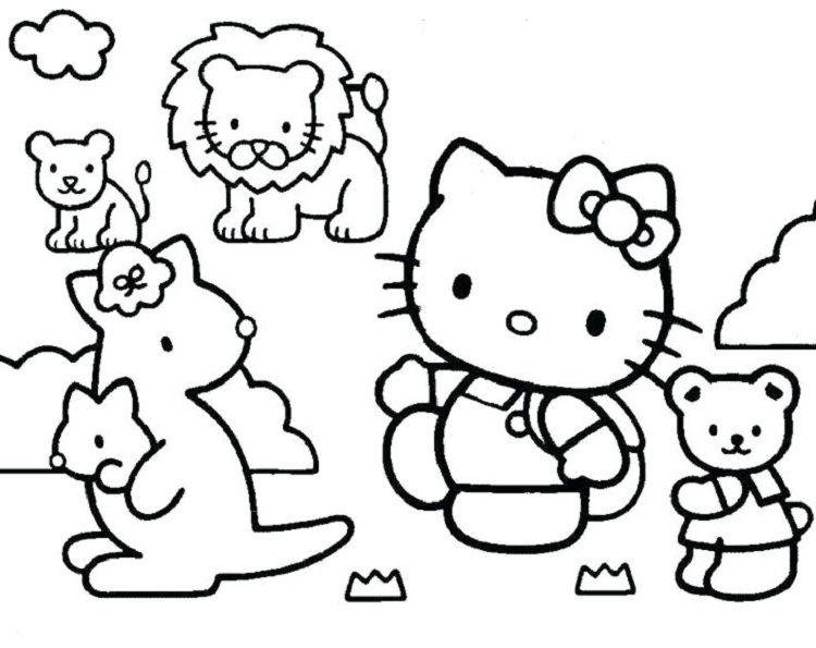 Educational Coloring Pages Hello Kitty Hello Kitty Halaman Mewarnai Warna