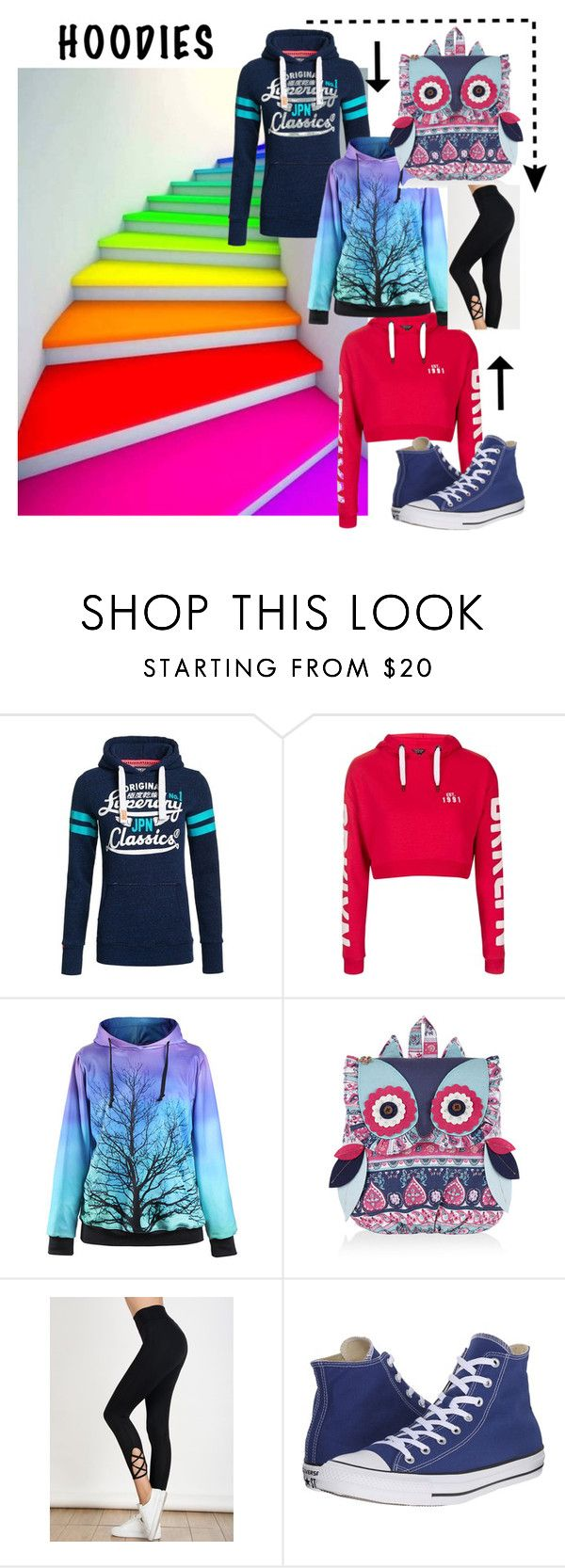 """""""hoodies"""" by explorer-14673103603 ❤ liked on Polyvore featuring Superdry, Topshop, Monsoon and Converse"""