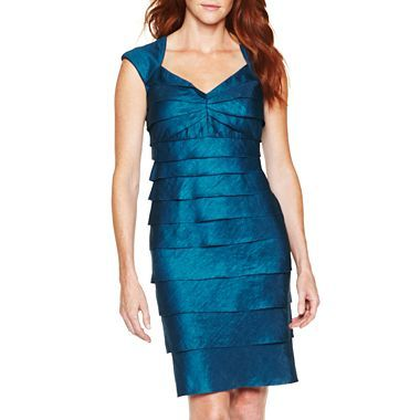 Lizzatti Collection Cap Sleeve Pleat Dress Jcpenney 40 Clearance