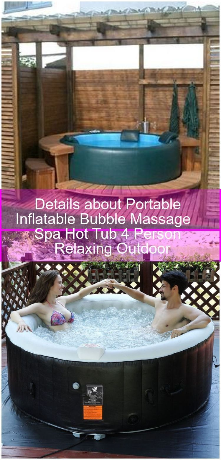 Bub Bubble Details Hot Inflatable Massage Outdoor Person Portable Relaxing Spa Tub Whirlpool Outdoor Details Abou In 2020 Hot Tub Spa Hot Tubs Spa Massage