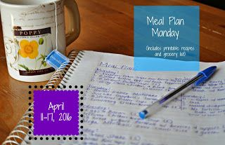 Darcie's Dishes: Meal Plan Monday: 4/11-4/17/16 ~ A one week Trim Healthy Mama compliant menu, printable and FREE!