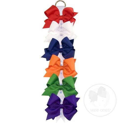Variety Pack!  Six Small Grosgrain Hair Bows in Primary Colors. $32.00 #hair #bows