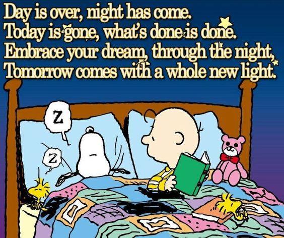 Good night my snoopy inspiration positive words | snoopy