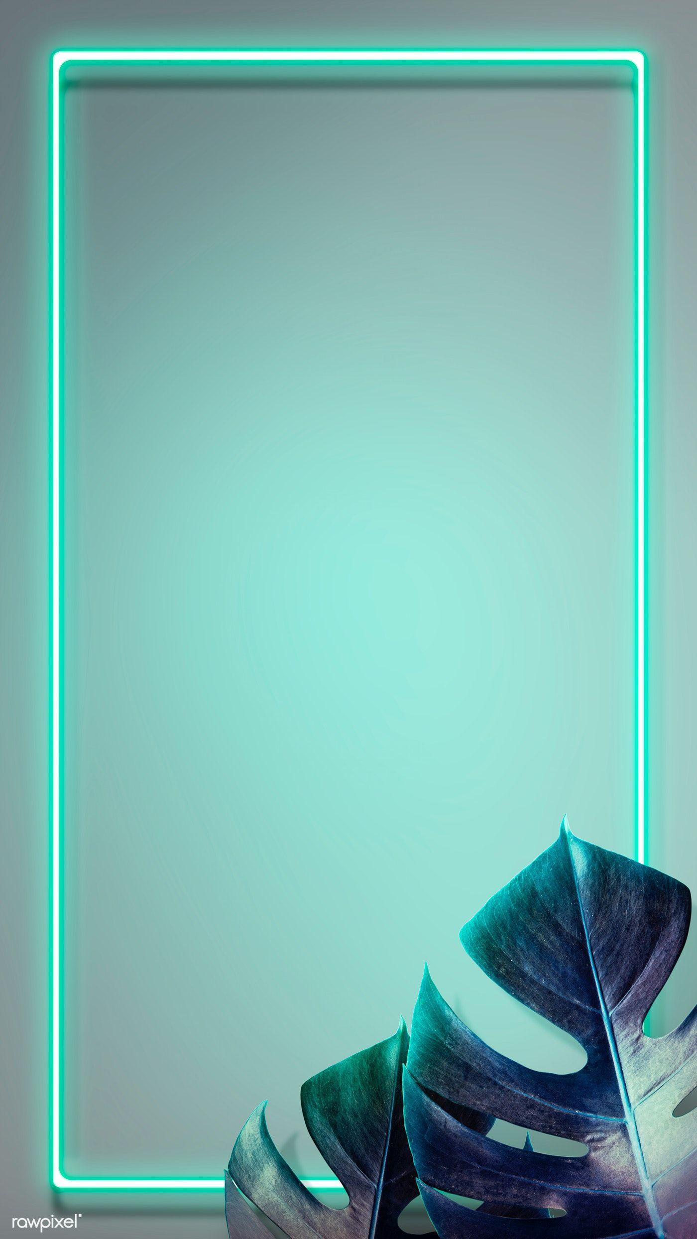 Download Premium Illustration Of Tropical Green Neon Lights Phone Screen Neon Wallpaper Neon Light Wallpaper Phone Wallpaper Images