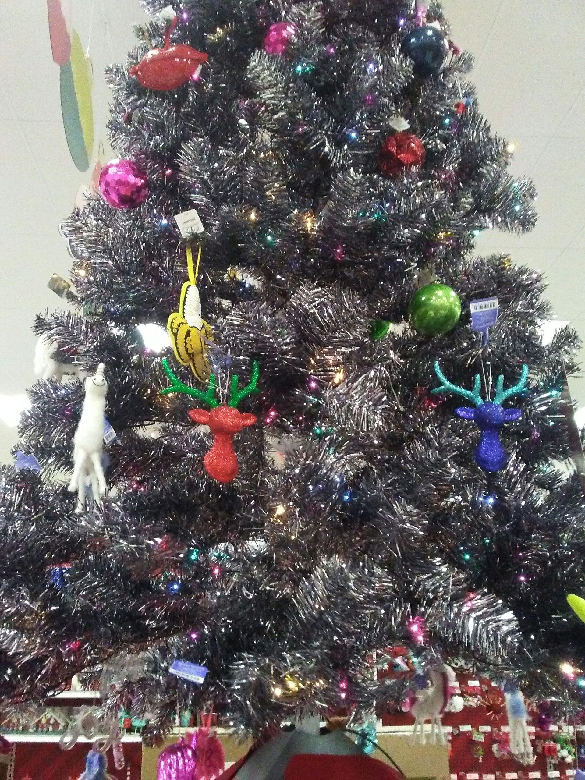 Graphite Grey Silver Tinsel Alberta Spruce Christmas Tree Grunge Target Spruce Christmas Tree Christmas Tree Christmas Themes