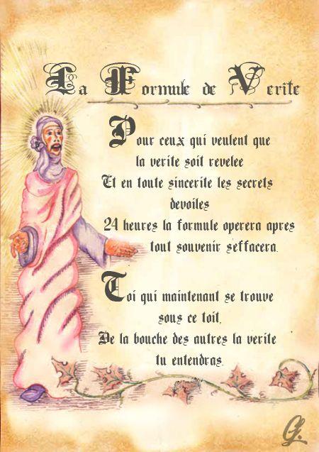 Formule de Vérité   Grimoire   Pinterest   Book of shadows, Wicca et ... 4650593fbf7f