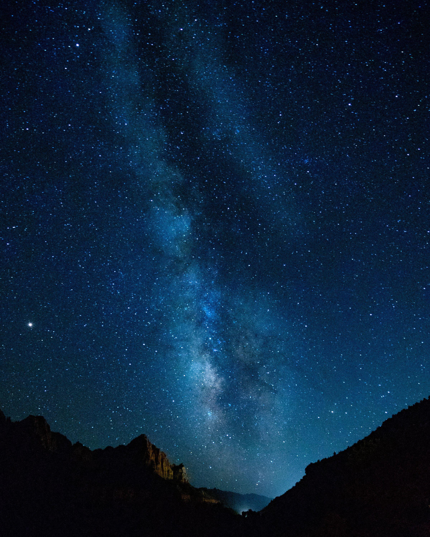 Sky sky star mountain galaxy night evening milky