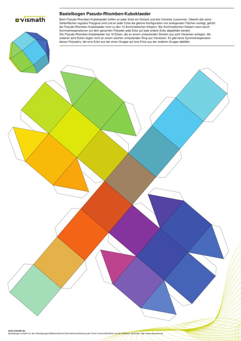 Bastelbogen Pseudo-Rhomben-Kuboktaeder