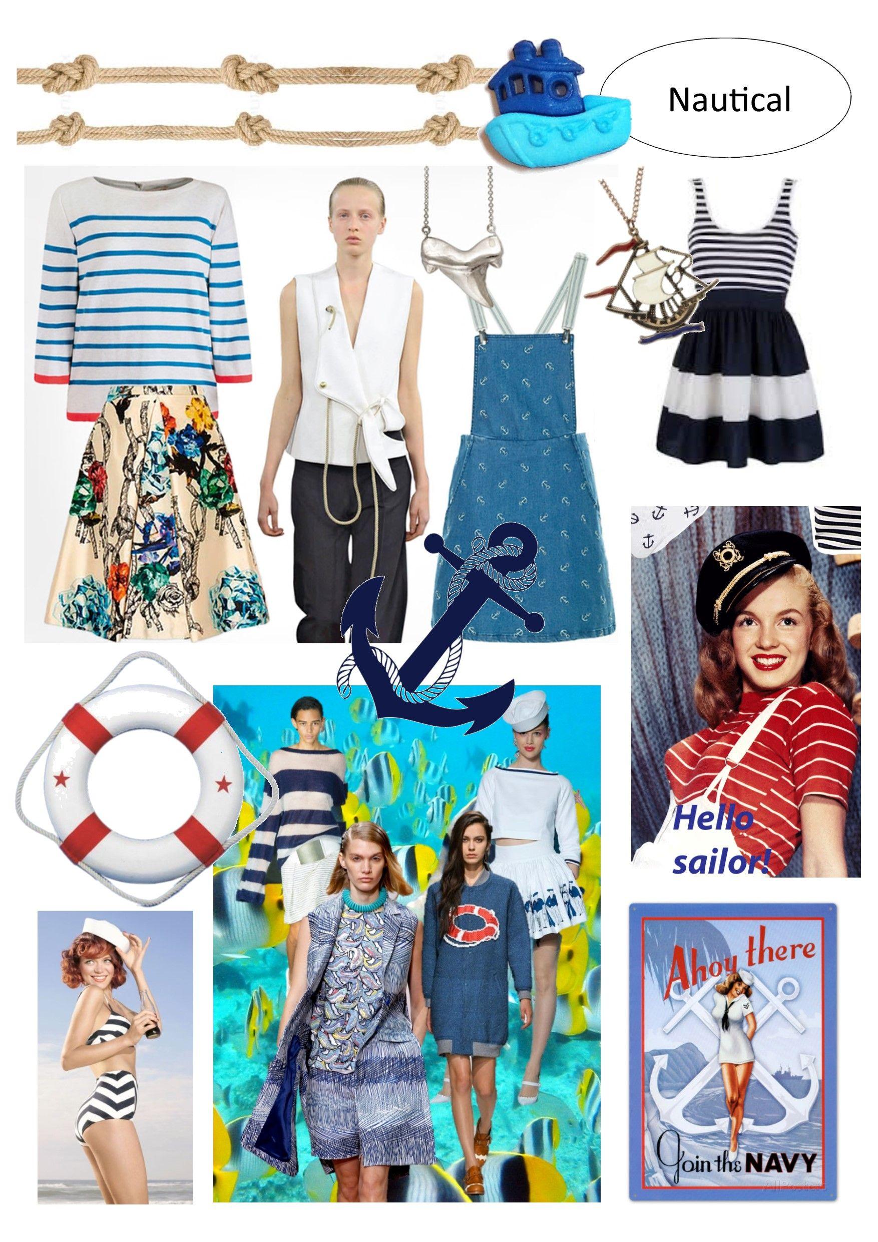 Marine Life Moodboard 3: Nautical Fashion