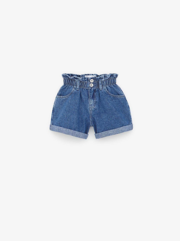 Zapatillas 2018 despeje Promoción de ventas Bermuda denim paperbag | Faldas de mezclilla, Pantalón corto ...