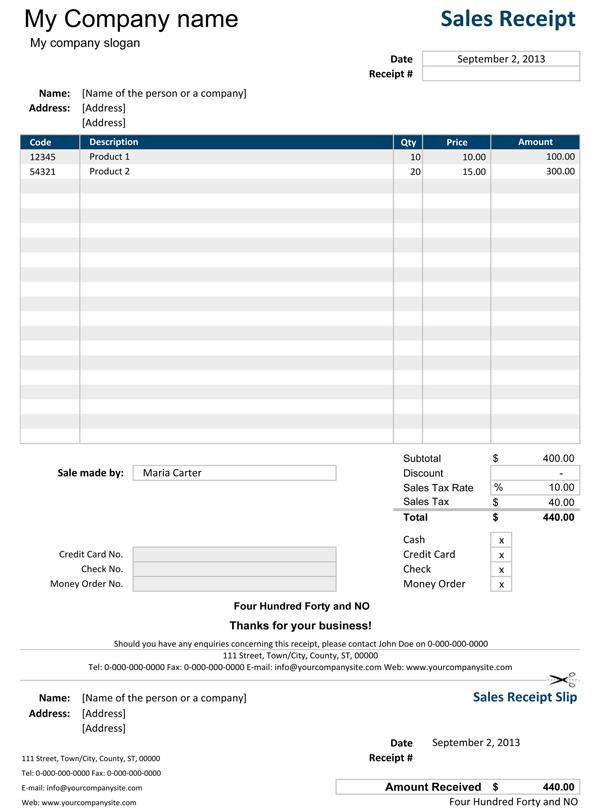 Excel Receipt Templates Receipt template, Excel