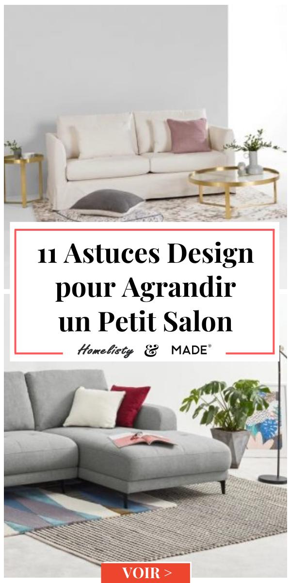 11 Astuces Design Pour Agrandir Un Petit Salon En 2020 Avec