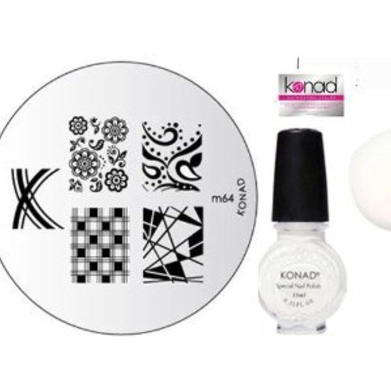 Bundle items x konad nail art manicure stamping kit image plate