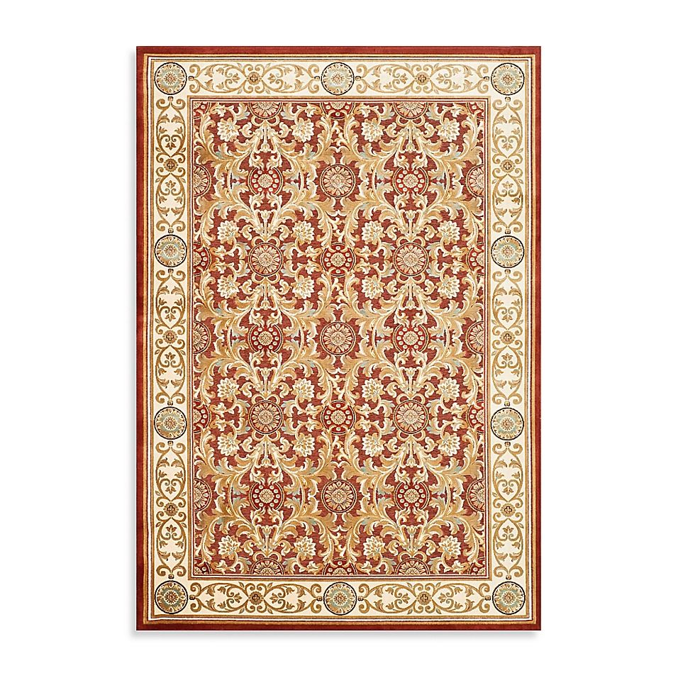 Safavieh Acanthus Scroll 3'3 X 4'9 Accent Rug In Red
