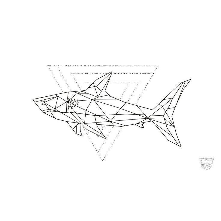 Image Result For Minimalist Shark Tattoo