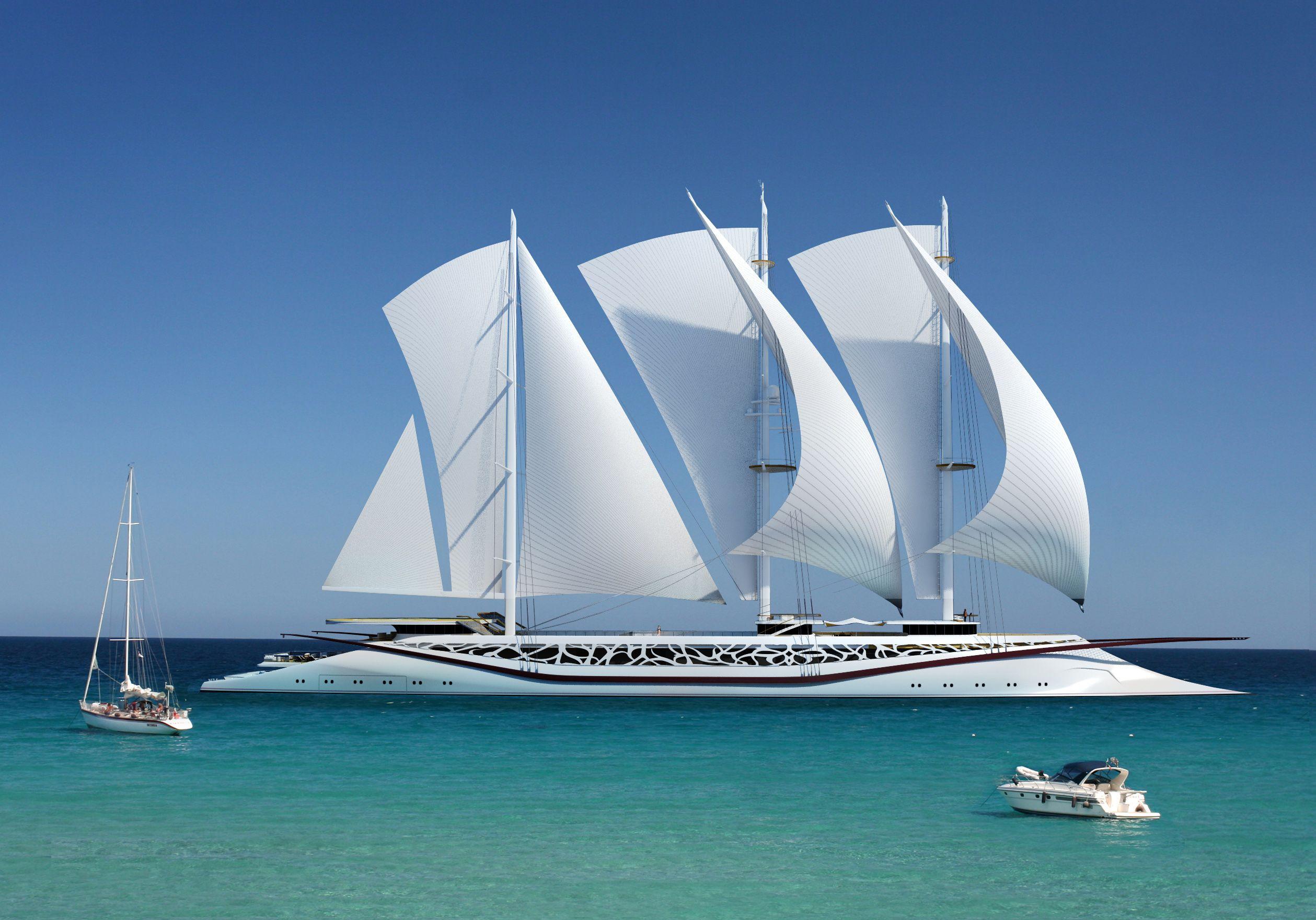 Phoenicia Sailing Yacht concept by Igor Lobanov