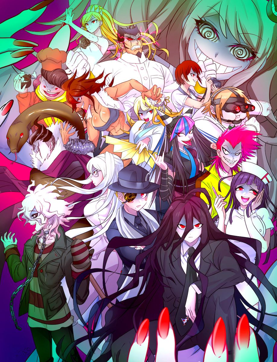 Danganronpa 2 arte de anime dibujos dibujos de anime