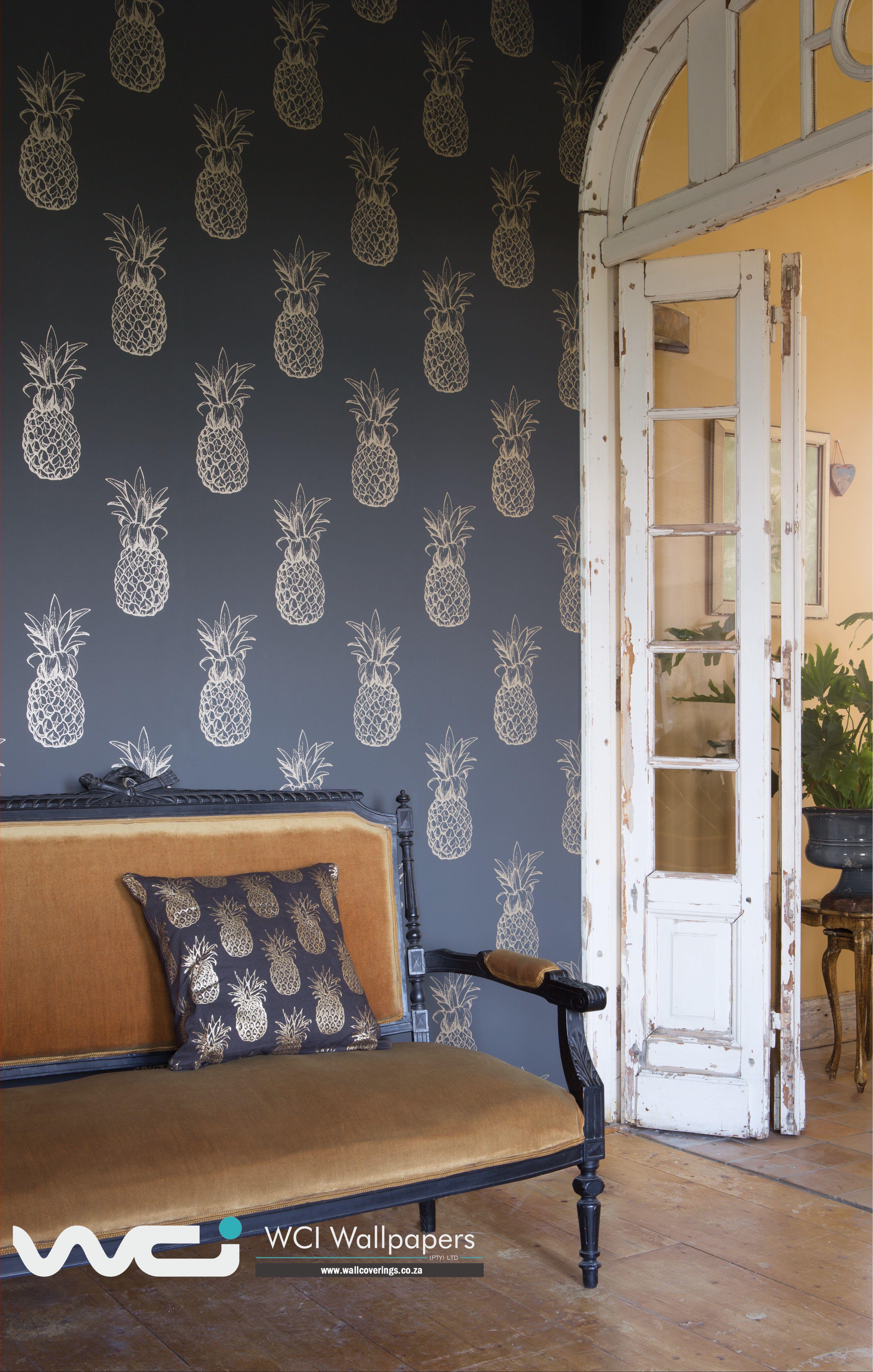 Pineapple Wallpaper, Bold Prints, Chair Fabric, Print Wallpaper, Kitchen Wallpaper, Textiles