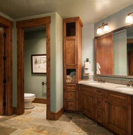 42+ best ideas bath room dark wood trim floors | dark wood