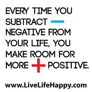 Let go of the negative to allow for positive.     For more inspiration go to https://www.facebook.com/myposchange